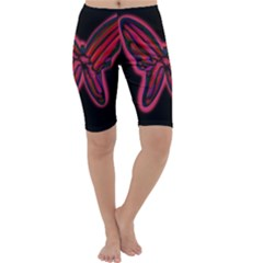 Red butterfly Cropped Leggings