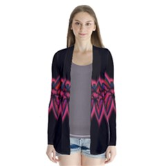 Red Butterfly Drape Collar Cardigan