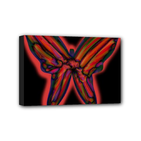 Red butterfly Mini Canvas 6  x 4