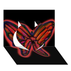 Red butterfly Heart 3D Greeting Card (7x5)