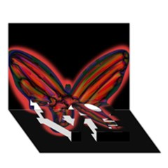 Red butterfly LOVE Bottom 3D Greeting Card (7x5)