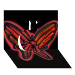 Red Butterfly Apple 3d Greeting Card (7x5)