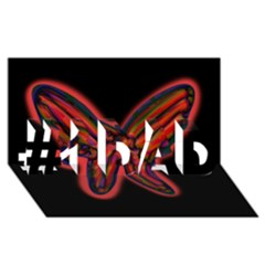 Red Butterfly #1 Dad 3d Greeting Card (8x4)