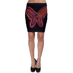 Red butterfly Bodycon Skirt