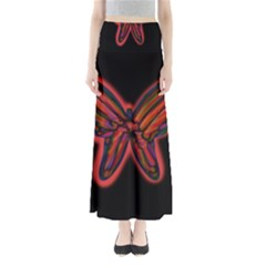 Red butterfly Maxi Skirts