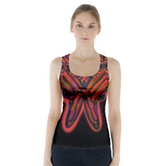 Red butterfly Racer Back Sports Top