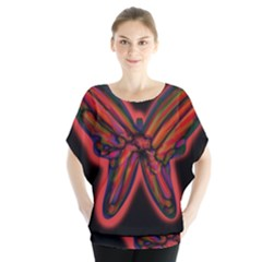 Red butterfly Blouse