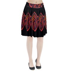Red butterfly Pleated Skirt