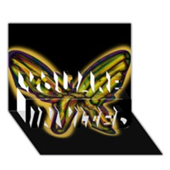 Night butterfly YOU ARE INVITED 3D Greeting Card (7x5)