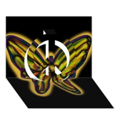 Night butterfly Peace Sign 3D Greeting Card (7x5)