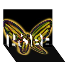 Night Butterfly Hope 3d Greeting Card (7x5)