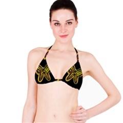 Night butterfly Bikini Top