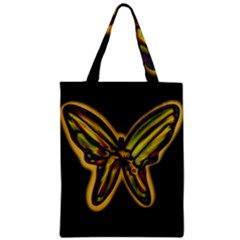 Night butterfly Zipper Classic Tote Bag