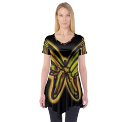 Night butterfly Short Sleeve Tunic