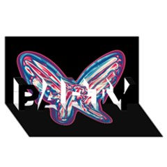 Neon butterfly PARTY 3D Greeting Card (8x4)