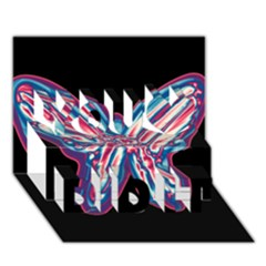 Neon butterfly You Did It 3D Greeting Card (7x5)