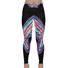 Neon butterfly Yoga Leggings