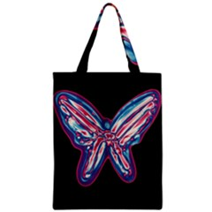 Neon butterfly Zipper Classic Tote Bag