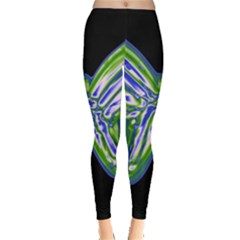 Green neon butterfly Leggings