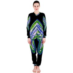 Green neon butterfly OnePiece Jumpsuit (Ladies)