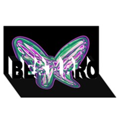 Neon butterfly BEST BRO 3D Greeting Card (8x4)