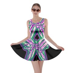 Neon butterfly Skater Dress