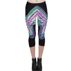 Neon butterfly Capri Leggings