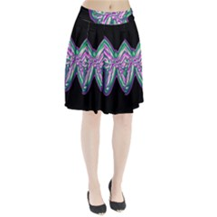 Neon Butterfly Pleated Skirt