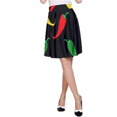 Chili peppers A-Line Skirt