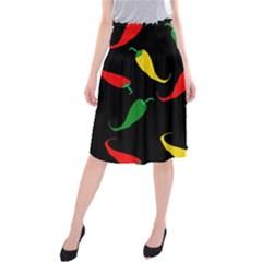 Chili peppers Midi Beach Skirt