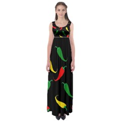 Chili peppers Empire Waist Maxi Dress