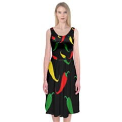Chili peppers Midi Sleeveless Dress