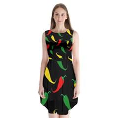 Chili peppers Sleeveless Chiffon Dress