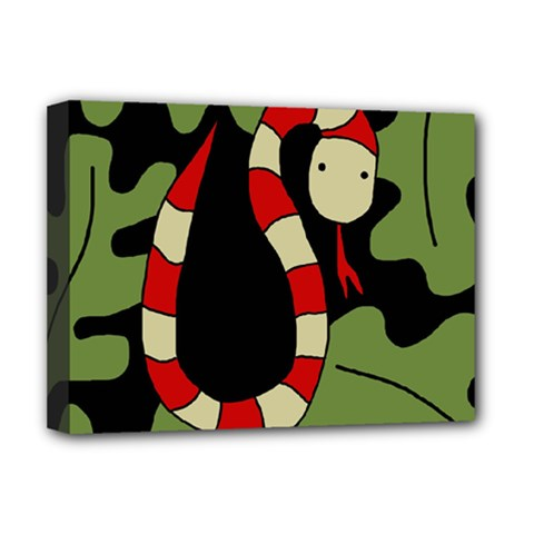 Red cartoon snake Deluxe Canvas 16  x 12