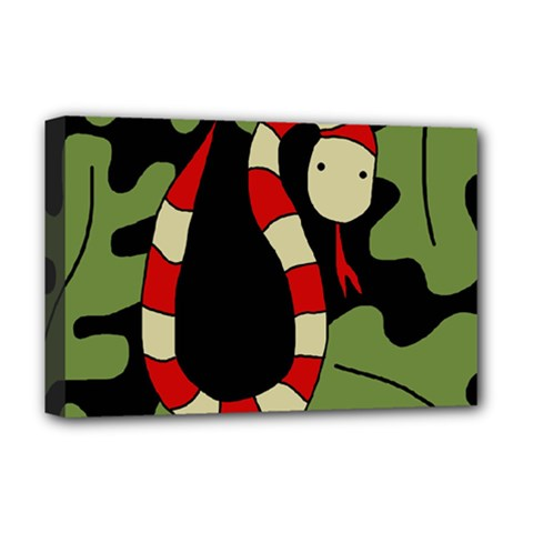 Red cartoon snake Deluxe Canvas 18  x 12