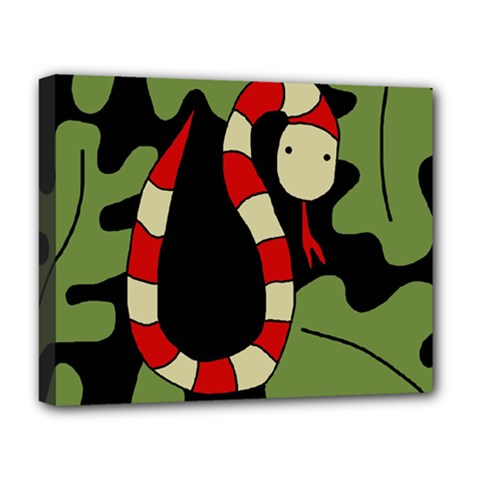 Red cartoon snake Deluxe Canvas 20  x 16
