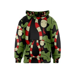 Red cartoon snake Kids  Pullover Hoodie