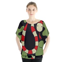 Red cartoon snake Blouse