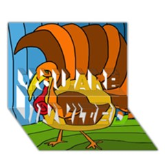 Thanksgiving turkey  YOU ARE INVITED 3D Greeting Card (7x5)