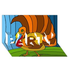Thanksgiving turkey  PARTY 3D Greeting Card (8x4)