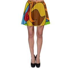 Thanksgiving turkey  Skater Skirt