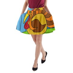 Thanksgiving turkey  A-Line Pocket Skirt
