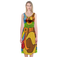 Thanksgiving turkey  Midi Sleeveless Dress