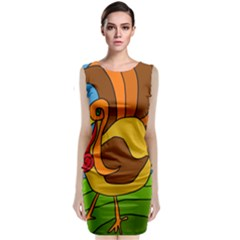 Thanksgiving turkey  Classic Sleeveless Midi Dress