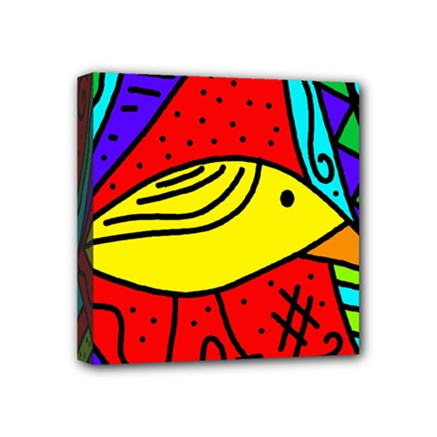 Yellow bird Mini Canvas 4  x 4