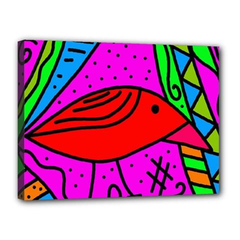 Red bird Canvas 16  x 12