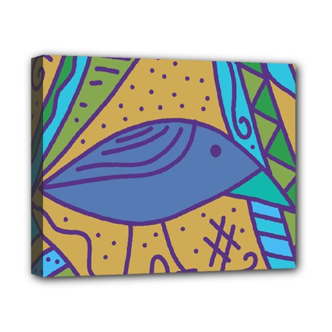 Blue bird Canvas 10  x 8