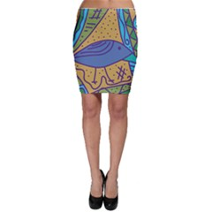 Blue bird Bodycon Skirt