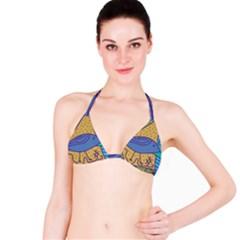 Blue bird Bikini Top