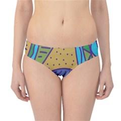 Blue bird Hipster Bikini Bottoms